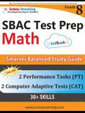 SBAC Test Prep: 8th Grade Math Common Core Practice Book and Full-length Online Assessments: Smarter Balanced Study Guide With Perform