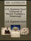 U.S. Supreme Court Transcript of Record Trustees V. Greenough