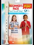 Recorder Fun! Beginner's Pack with Flute: Teach Yourself Today - Easy Lessons with Over 40 Fun Songs!