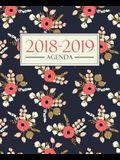 Agenda 2018-2019: 190 x 235 mm: Agenda 2018-2019 semana vista español: 160 g/m² Agenda semanal 12 meses: Estampado floral 3698