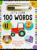 Let's Learn Wipe Clean Hardcover: 100 Words