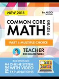 Argo Brothers Math Workbook, Grade 6: Common Core Math Multiple Choice, Daily Math Practice Grade 6