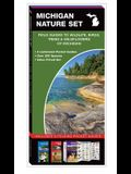 Michigan Nature Set: Field Guides to Wildlife, Birds, Trees & Wildflowers of Michigan