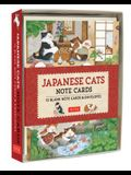 Japanese Cats Note Cards: 12 Blank Note Cards & Envelopes (6 X 4 Inch Cards in a Box)
