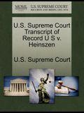 U.S. Supreme Court Transcript of Record U S V. Heinszen