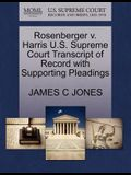 Rosenberger V. Harris U.S. Supreme Court Transcript of Record with Supporting Pleadings