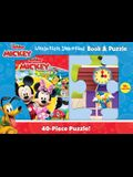 Disney Junior Mickey Mouse Clubhouse: Little First Look and Find Book & Puzzle