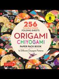 Origami Chiyogami Paper Pack Book: 256 Double-Sided Folding Sheets - 16 Different Chiyogami Patterns (Instructions for 8 Projects)