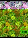 Agenda 2019 Settimanale: 19x23cm: Agenda 2019 Settimanale Italiano: Conchiglie Viola 5807