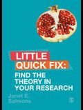 Find the Theory in Your Research: Little Quick Fix