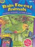 Rain Forest Animals [With Stickers and 6 Crayons and 8 Temporary Tattoos and 6 Stencils and 3 Coloring Books]