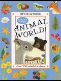 Animal World!: A Maurice Pledger Sticker Book with over 200 Colorful Stickers!