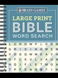 Brain Games - Large Print Bible Word Search (Blue)