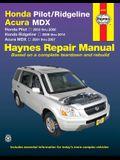 Honda Pilot/Ridgeline & Acura MDX: Honda Pilot 2003 Thru 2008, Honda Ridgeline 2006 Thru 2014, Acura MDX 2001 Thru 2007