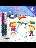 Snow Magic Pom Pom Sticker Stories Sticker Book