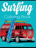 Surfing Coloring Book: An Adult Coloring of Surf, Waves, and Ocean