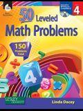 50 Leveled Math Problems Level 4 (Level 4) [With CDROM]