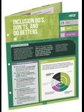 Inclusion Do's, Don'ts, and Do Betters (Quick Reference Guide 25-Pack)