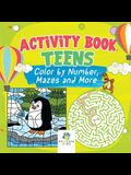 Activity Book Teens - Color by Number, Mazes and More