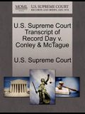 U.S. Supreme Court Transcript of Record Day V. Conley & McTague