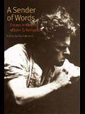 A Sender of Words: Essays in Memory of John G. Neihardt