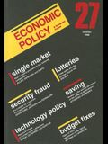 Economic Policy: Number 27