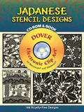 Japanese Stencil Designs: 168 Royalty-Free Designs [With CDROM]