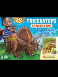Triceratops: 3D Puzzle and Book [With Book(s)]