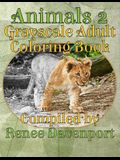 Animals 2 Grayscale Adult Coloring Book