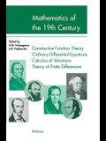 Mathematics of the 19th Century: Mathematical Logic Algebra Number Theory Probability Theory
