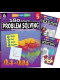 180 Days 3 Book Bundle - Reading, Writing & Problem Solving Grade 5