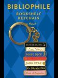 Bibliophile Bookshelf Keychain: (book Lover Gift, Book Club Gift)
