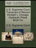 U.S. Supreme Court Transcript of Record Kimbell V. Chicago Hydraulic Press Brick Co