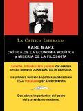 Karl Marx: Critica de la Economia Politica (Grundrisse) y Miseria de la Filosofia, Coleccion La Critica Literaria Por El Celebre