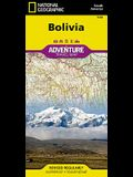 Bolivia Adventure Travel Map