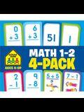 School Zone Math 1-2 Flash Cards 4-Pack