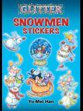 Glitter Snowmen Stickers [With Stickers]