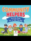 Community Helpers Activity Book for 4 Year Old Boy