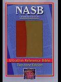 NASB Ultrathin Reference Bible, Burgundy/Tan LT
