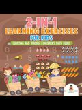 2-in-1 Learning Exercises for Kids: Counting and Tracing Children's Math Books