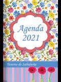 2021 Agenda - Tesoros de Sabiduría - Flores de Acuarela: Con Un Pensamiento Motivador O Un Versículo de la Biblia Para Cada Día del Año