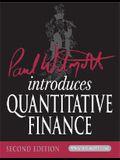 Paul Wilmott Introduces Quantitative Finance [With CDROM]
