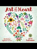 Art of the Heart 2017 Wall Calendar: Illustrated Symbols of Love