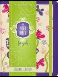 NIV Holy Bible for Girls, Journal Edition, Hardcover, Purple, Elastic Closure