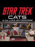 Star Trek: Cats of the U.S.S. Enterprise 2022 Wall Calendar