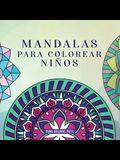 Mandalas para colorear niños: Libro para colorear con mandalas divertidos, fáciles y relajantes para niños, niñas y principiantes