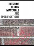 Interior Design Materials and Specifications [With CDROM]