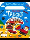 Five Red Trucks