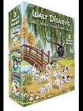 Walt Disney's Little Golden Board Book Library (Disney Classic): Pinocchio; Alice in Wonderland; 101 Dalmatians