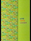 Live, Love, Laugh Foldover Journal